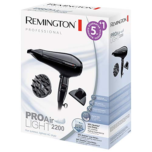 Remington AC6120 Pro-Air Light ion hair dryer with AC motor, 2200 watt in black colour