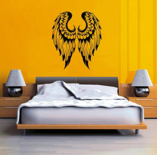 Dalxsh Angel Wings Pair Gothic Wall Stickers for Living Room Sweet Home Decor Vinyl Wallpaper Decals Bedroom Girls Art Sticker -