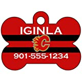 Calgary Flames Dog Tag Pet Id Tag Personalized w/ Name & Number