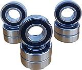 (Qty.10) 6201-1/2-2RS Premium HCH 6201 8 2rs Ball
