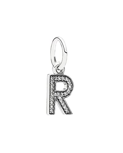 da29c61de Image Unavailable. Image not available for. Color: PANDORA Silver Cz Dangle  Letter R Charm