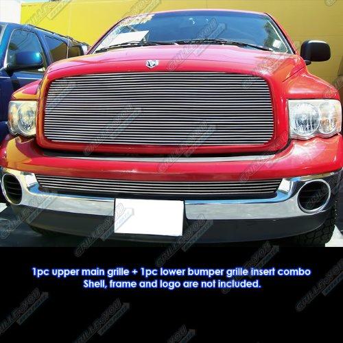 APS Fits 02-05 Dodge Ram Regular Model Billet Grille Insert Combo #D61087A