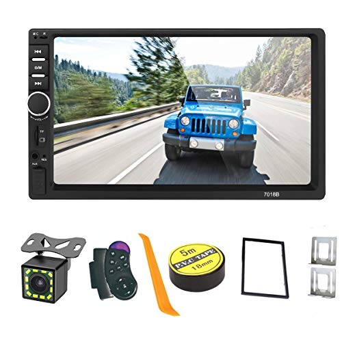 Android/iOS Mirror Link 7 inch 2 Din Capacitive Touch Screen Car Stereo in-Dash Bluetooth Car Radio Player with Rear-View Camera,Video MP5/4/3 Player, Radio FM, Support Steering Wheel Remote Control