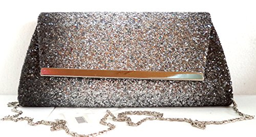 Miss Minna Women's Baguette Handbag silver silver and black