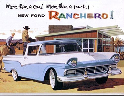 1957 Ford Ranchero Sales Brochure Literature Advertisement Options Colors Specs (Ranchero Brochure)