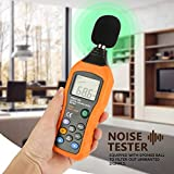 Sound Meter DB Sound Pressure Level Meter 30-130 dB Digital Decibel Audio Noise Tester with LCD Backlight Display