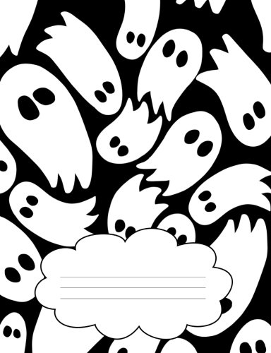 Spooky Ghosts Composition Notebook: Cute Halloween Hand Drawn Ghost Pattern Journal and Notebook for People Who Love Halloween, October, and Ghosts ()
