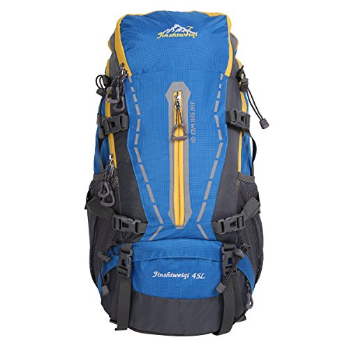 HWJIANFENG 45L Outdoor Sports Hiking Cycling Traveling Backpack Lightweight Backpack with a New Limited Edition Color Unisex (5 Colors Available)