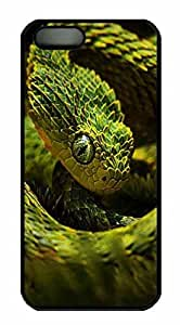 Protective PC Case Skin for iphone 5 Black PC Case Back Cover Shell for iphone 5S with Snake