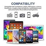 Avoalre-Cavo-Micro-USB-3-Pezzi2-Metri-Nylon-Cavo-Ricarica-Cavo-Caricatore-Cavetto-USB-per-Samsung-Galaxy-S6S7-Huawei-P8-Lite-Kindle-PS4-Argento-e-Nero