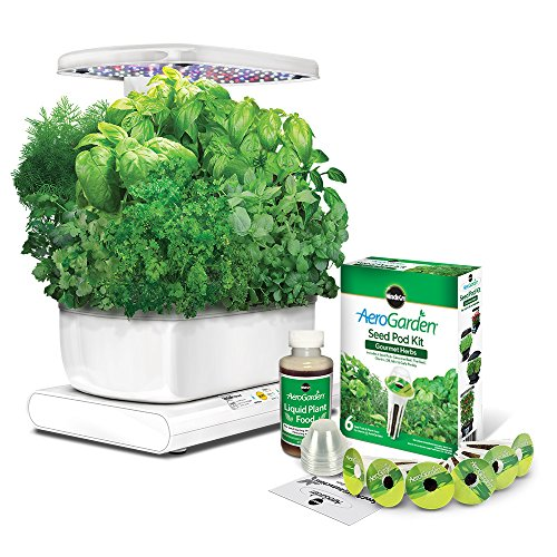 AeroGarden Harvest with Gourmet Herb Seed Pod Kit, White