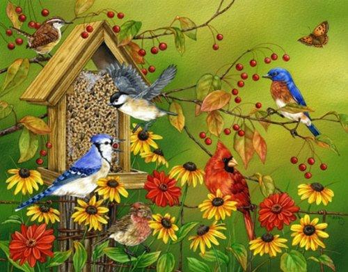 es Fall Feast (White Mountain Puzzles Birds)