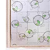 CottonColors Privacy Window Film Frosted Glass Stickers Static Self Adhesive 3D Decoration 90x200cm