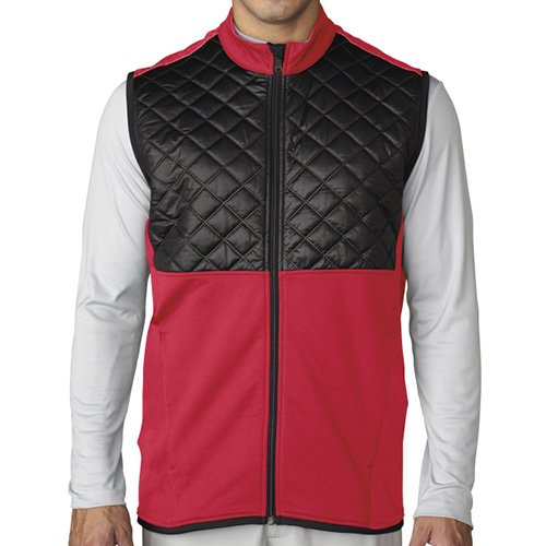 Adidas ClimaHeat Prime Quilted Full Zip Golf Vest 2016 Ray Red/Black Small