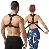 McFlony Posture Corrector for Women and Men and Stretch Strap with Loops – Hunch Back Corrector for Back Pain Relief and Exercise Yoga Band for Stretching, Fitness, and Physical Therapy