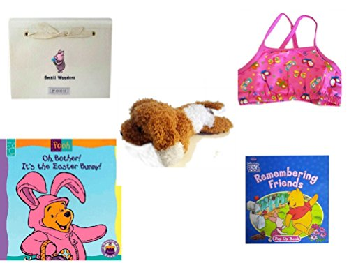 Children's Gift Bundle - Ages 0-2 [5 Piece] Includes: Hallmark ''Small Wonders'' Pooh Piglet Brag Book, Circo Infant Girls Swim Bikini Top Pink Butterfly Size XL 24 Months 25-30 lbs, Amazimals Brown & by Secure-Order-Marketplace Gift Bundles
