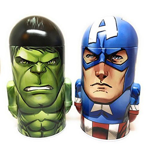 Marvel Comics Avengers Assemble Captain America and Incredible Hulk Steel Coin Banks (Total of 2 Banks)