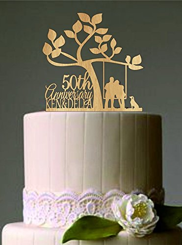 50th Wedding Anniversary Cakes.Uniquepig Rustic Country Tree 50th Anniversary Personalized Couples Wedding Cake Toppers Wedding Gifts Wedding Decor Couples Gifts