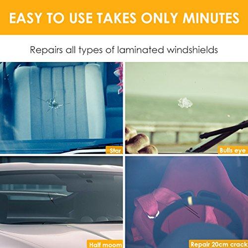 Dealpeak DIY Car Windshield Repair Kit Windshield Crack Chip Repair Tools Quick Fix DIY Auto Window Glass Scratch Repair Kits by Dealpeak (Image #2)