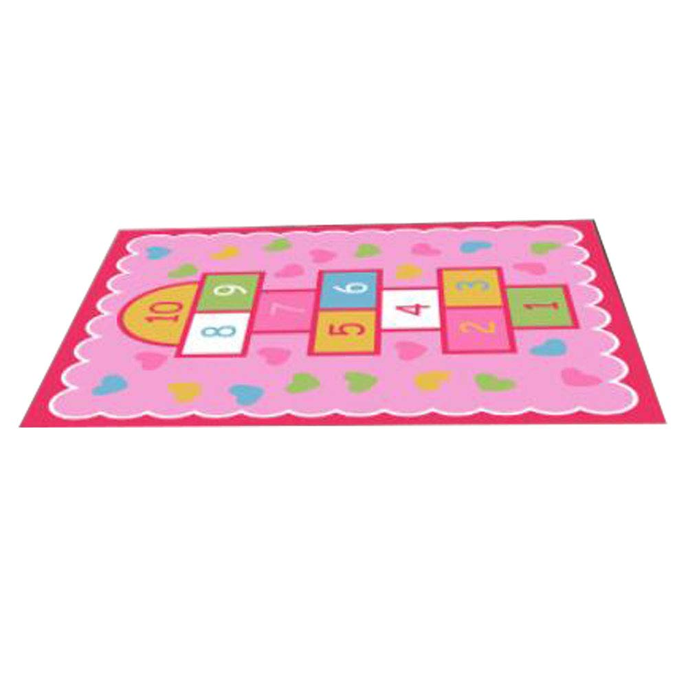 Kids Carpet Play Mat Kids Rug  colorful Activity Centerp Play Mat Great for Playing with Cars and Toys Learn and Have Fun Safe, Pink Number