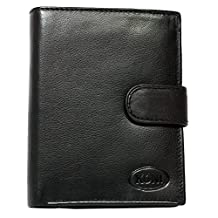 Koni Men's Genuine Leather Wallet One Size Black