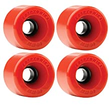Kryptonics Star Trac 60mm 78a Red Skateboard Wheels (Set of 4)