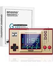 NEWZEROL 4-pack för spel- och klockskärmskydd 2,5D bågkant [inga bubblor] [anti repa] 9 hårdhet högdefinierat härdat glas skärmskydd för – transparent