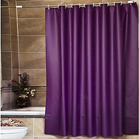 Welwo PEVA Shower Curtain Liner Peva 108x72 Inches Solid Purple