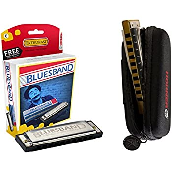 hohner blues band 1501bx harmonica c with free hohner zippered harmonica case. Black Bedroom Furniture Sets. Home Design Ideas