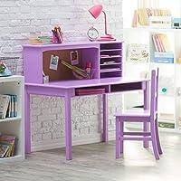 Media Desk & Chair Set - Lavendar .