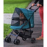Pet Gear No-Zip Happy Trails Pet Stroller, Zipperless Entry, Emerald