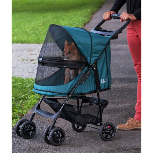 Pet-Gear-No-Zip-Happy-Trails-Pet-Stroller-Zipperless-Entry-Emerald