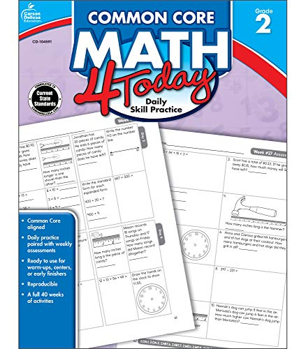 Carson Dellosa Common Core 4 Today Workbook, Math, Grade 2, 96 Pages (CDP104591) (Common Core Assessment Readiness Grade 6 Answer Key)