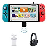 Type-C Mini Wireless Bluetooth 4.0 USB Audio Transmitter Adapter Dongle to Headphones Headset Compatible for Nintendo Switch / PS4 / Laptop PC on Windows 10 8 7 (Support in-Game Voice Chat)