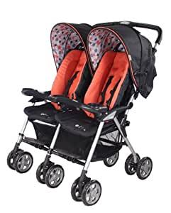Combi Twin Sport 2 Side by Side Double Stroller - Apricot (Discontinued by Manufacturer)