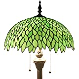 Tiffany style floor lamp light S523 series 16 inch wide green wisteria shade E26
