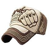 Fashion Adjustable Unisex Cool Baseball Cap Summer Hat Cotton Free Size(Brown)