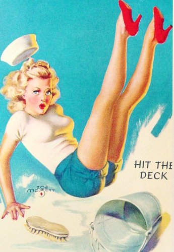 Pin-up Postcards: Sailor Girls (Set of 10), used for sale  Delivered anywhere in USA