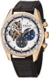 Zenith Men's 'El Primero' Swiss Automatic Gold and Leather Dress Watch, Color:Brown (Model: 1820404061.69C)