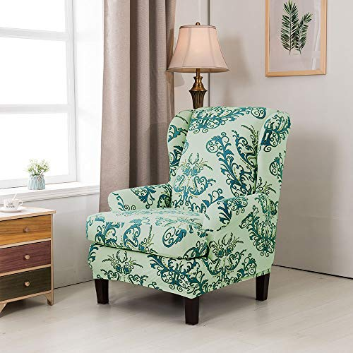 Slipcover For Sofa Without Arms: Wingback Chair Sofa Slipcovers Covers Stretch Printed