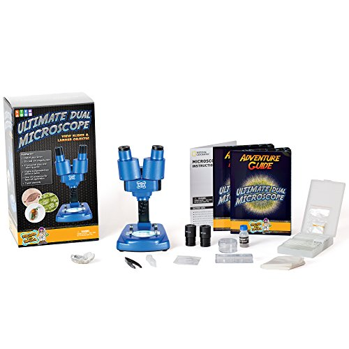 Discover with Dr. Cool Science Lab Over 50 Accessories Dual - Microscope Geographic National