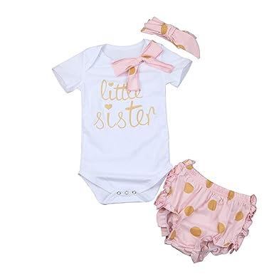 Amazon.com: Conjunto de ropa para bebés y niñas, con ...