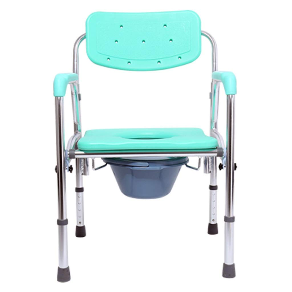 G-LXYZBQSHYP Toilet Chair, Portable Toilet with Adjustable Height Mobile Toilet Bath Chair for The Elderly Disabled Or Disabled by G-LXYZBQSHYP