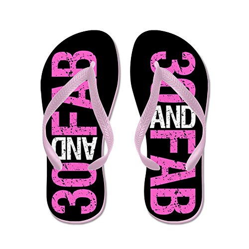 CafePress Fabulous 30Th Birthday - Flip Flops, Funny Thong Sandals, Beach Sandals Pink