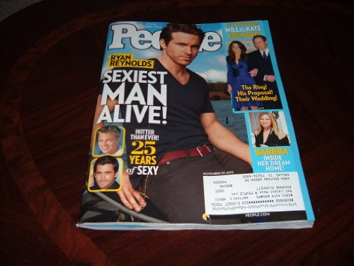 People magazine, November 29, 2010-Ryan Reynolds Sexiest Man Alive Issue. Annual Special Double Issue. Prince William & Kate Middleton Announce They Will Marry.