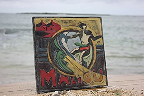 QuotMALIBU CALIFORNIAquot VINTAGE SURF SIGN