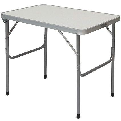 Campingtisch Amazon.Amanka Campingtisch Aus Aluminium Klapptisch 70x50x60 Cm Stahlrahmen Widerstandsfähiger Mdf Tischplatte Praktisches Kofferformat