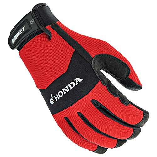Motorcycle Gloves Honda - Joe Rocket 'Honda Crew Touch' Mens Red/Black Textile Motorcycle Gloves - Medium