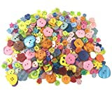 #5: Assorted Buttons for Arts & Crafts, Decoration, Collections, Sewing, Different Color and Style For Crafts Resin Round Buttons Craft Buttons Favorite Findings Basic Buttons (500 Pieces)