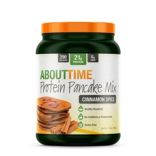 SDC Nutrition About Time Protein Pancake Mix Cinnamon Spice 10 Servings - 1.5 lbs Blended Waffle Mix
